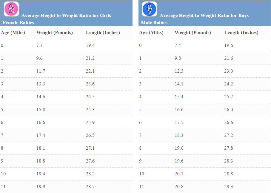 Child Height and Weight Chart | MedGuidance